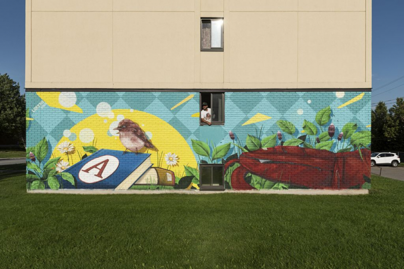 COVIDArtQc, the first stage of a mural trail in Lac-Mégantic