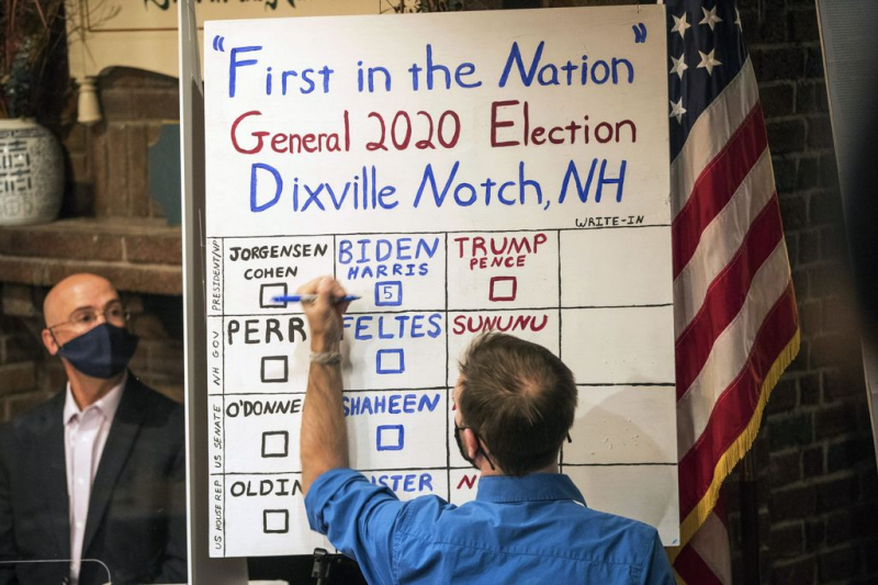 Biden wins Maine, New Hampshire and Vermont